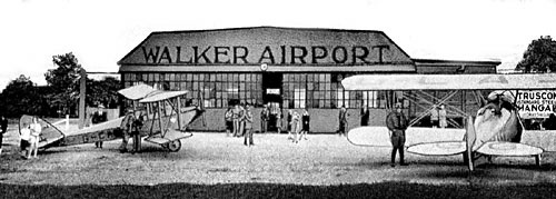walker postcard 1928: When Windsor Got Its Wings